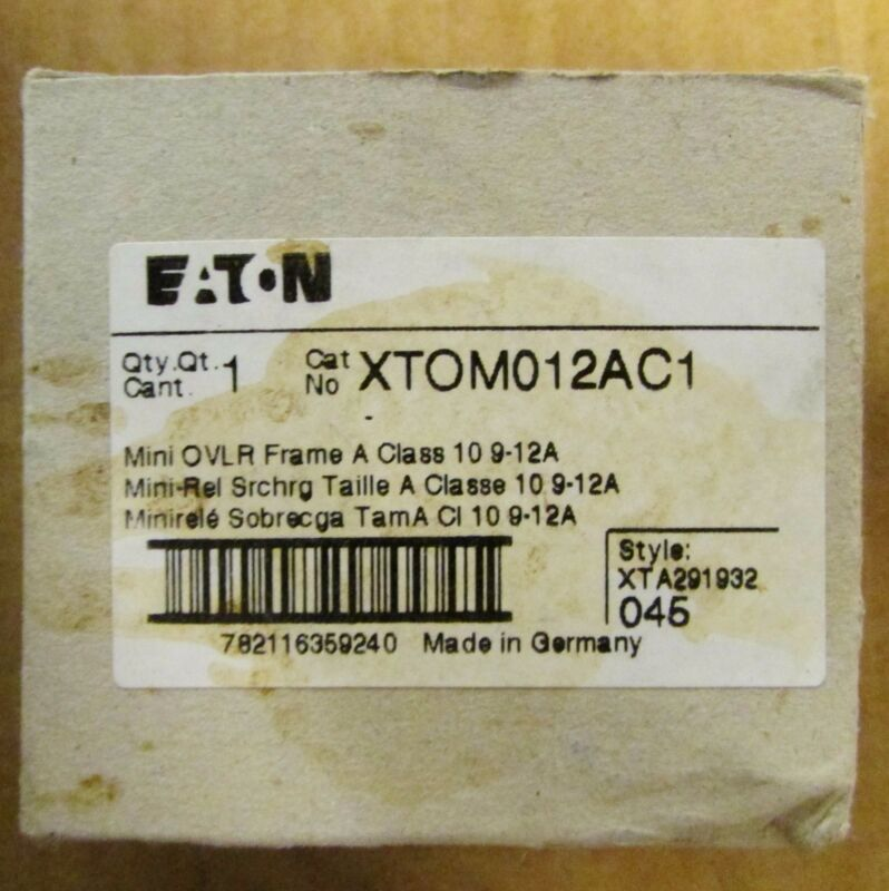 EATON CUTLER HAMMER Miniature Overload Relay 9-12 Amp XTOM012AC1