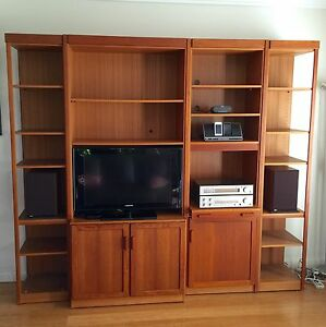 Solid teak Parker wall units Canterbury Canterbury Area Preview