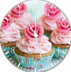 Beautiful Cupcake wall Clock 10 will be nice Gift and Room wall Decor E06