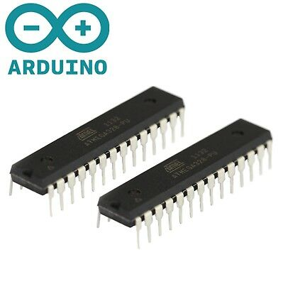 2x New Atmega328p-pu Ic Chip W Arduino Uno Bootloader Usa 2pcs Dip28 Mcu