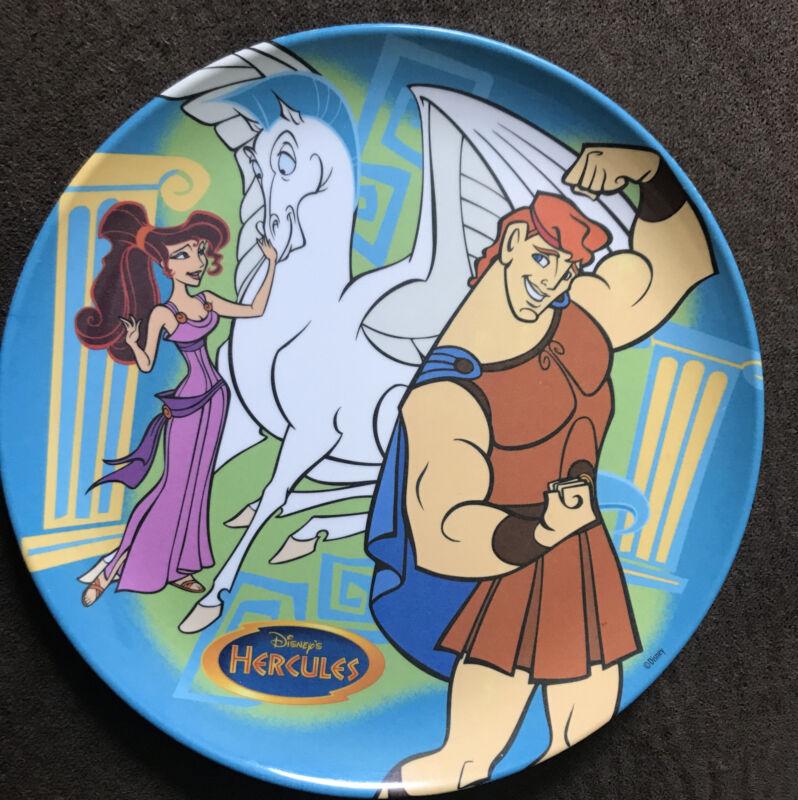 "Vintage Disney Hercules Megara Pegasus Plastic 8"" Dinner Plate Zak Designs"