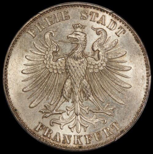 1859 Germany Frankfurt Schiller Thaler Silver Coin - PCGS MS 64 - KM# 359