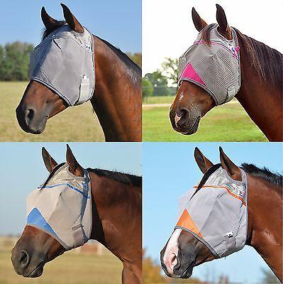 CASHEL CRUSADER STANDARD Horse Fly Mask ALL SIZES COLORS Gray Blue Pink Orange