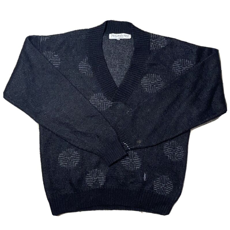Vintage Yves Saint Laurent Pullover V-Neck Sweater