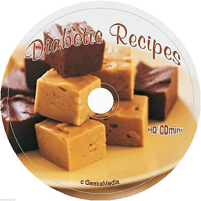 3500 Tasty Diabetic Recipes on cd sugarless gluten free sugar free candy baking