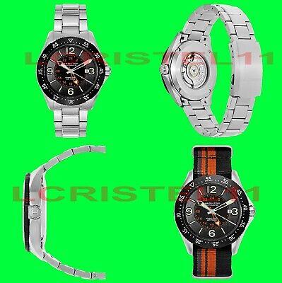 Hamilton Khaki Aviation Pilot GMT Men's Auto Watch, Nato Strap, Swiss ETA 2893-2