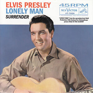 ELVIS-PRESLEY-Lonely-Man-Surrender-PICTURE-SLEEVE-RED-VINYL-7-45-record-NEW