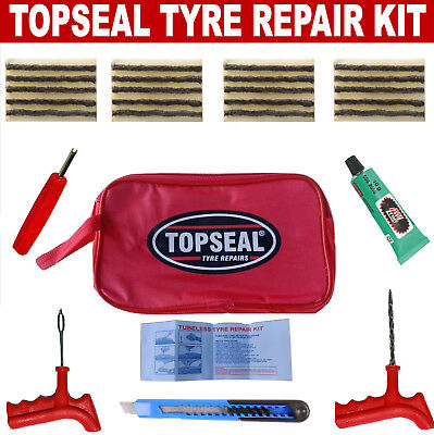 Tubeless Tyre Puncture Repair Kit With 20 Strings And Rema Tip Top Cement