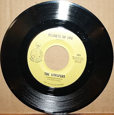 WHISPERS **Planets Of Life** I CAN REMEMBER Soul Funk 45 on SOUL CLOCK 1001
