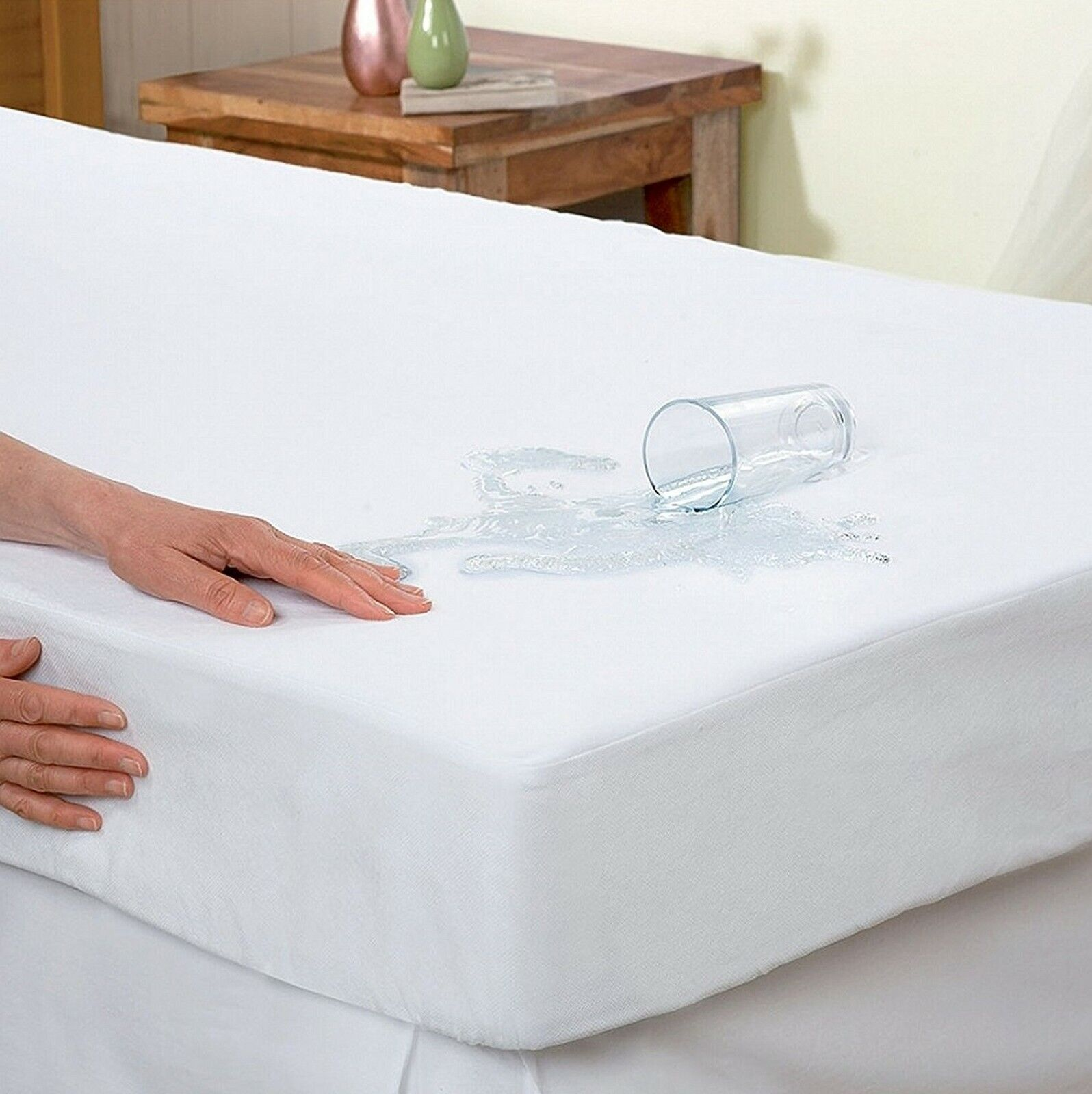 Water Proof,BED BUG BLOCKER ZIPPERED MATTRESS COVER UP TO 15