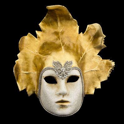 Mask Venice Face sheet golden macrame paper mache Luxe 2411