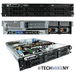 Dell PowerEdge 2950 II Server 2x 2.33GHz E5345 Quad Core 16GB RAM 2x1TB PERC 5i