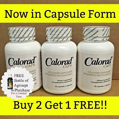 Calorad Caps (MG) Buy 2 Get 1 Free + 1 FREE Agrisept / As on TV / Exp. 01/21