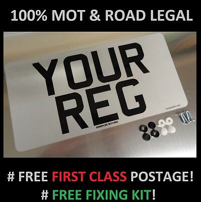 "12""x 6"" FRONT CAR NUMBER PLATE  100% MOT & ROAD LEGAL"