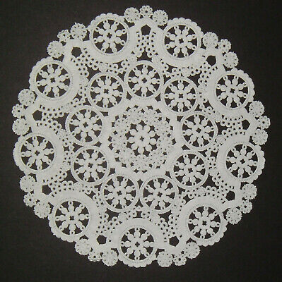 Paper Plate Christmas Crafts (4 Vintage Roylies Craft Round Filigree Snowflake 8 Inch White Paper Lace)