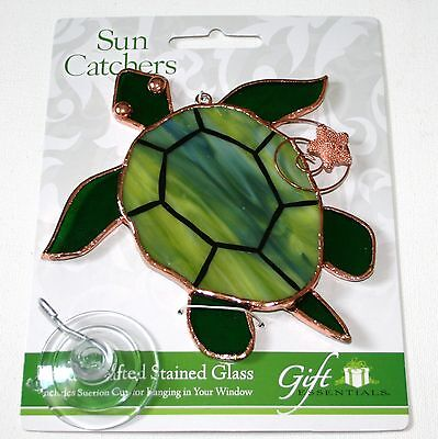Sea Turtle Stained Glass Suncatcher - Ocean Stained Glass