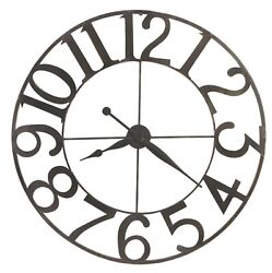 625-674 NEW LARGE WROUGHT IRON GALLERY CLOCK BY HOWARD MILLER FELIPE 625674