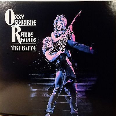 OZZY OSBOURNE & RANDY RHOADS 'Tribute' Promo Album Flat Mint!