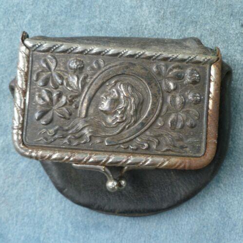 Art Nouveau Coin Purse Leather Antique Norwood Bank Minnesota