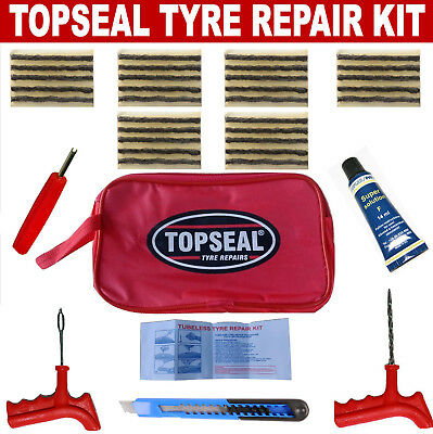 Tubeless Tyre Puncture Repair Kit With 30 Strings And Pang Cement
