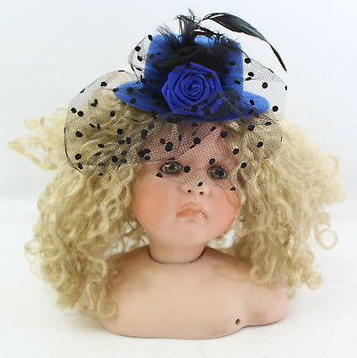Linda Valentino Michel Doll Head #1689/2000 Blue Hat, Blonde Hair, 2000