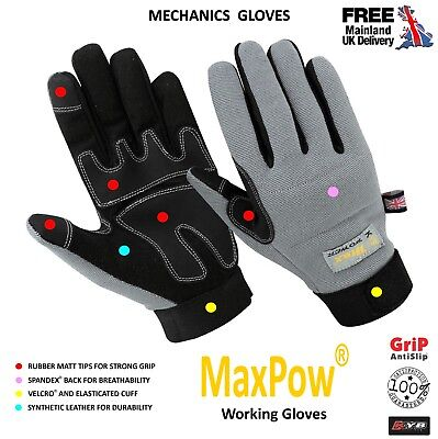 Safety Tradesman Glove - New KYB® SAFETY WORK WORKING PRECISION BUILDERS TRADESMAN MAX PERFORMANCE GLOVES