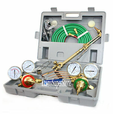 Ul Oxygen Acetylene Victor Type Welding Cutting Kit Torch Regulator Gauge Hose