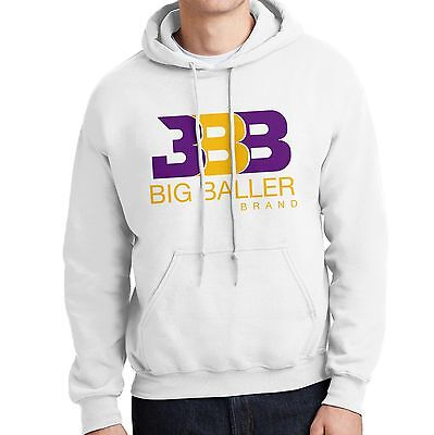 Bbb   Mens White Hoodie   Purple   Gold   Los Angeles Showtime Lake Show