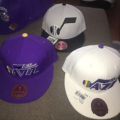 Mitchell & Ness NBA Utah Jazz Fitted Hats 3 Types All sz 7