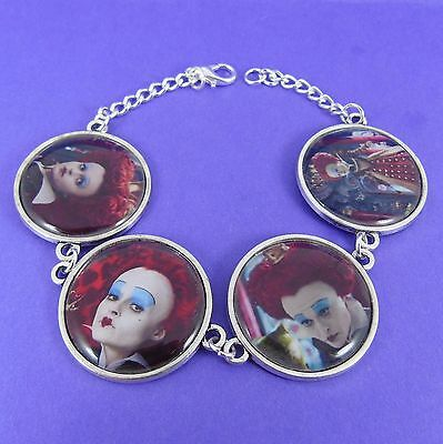 QUEEN OF HEARTS BRACELET disney alice in wonderland tim burton red helena bonham
