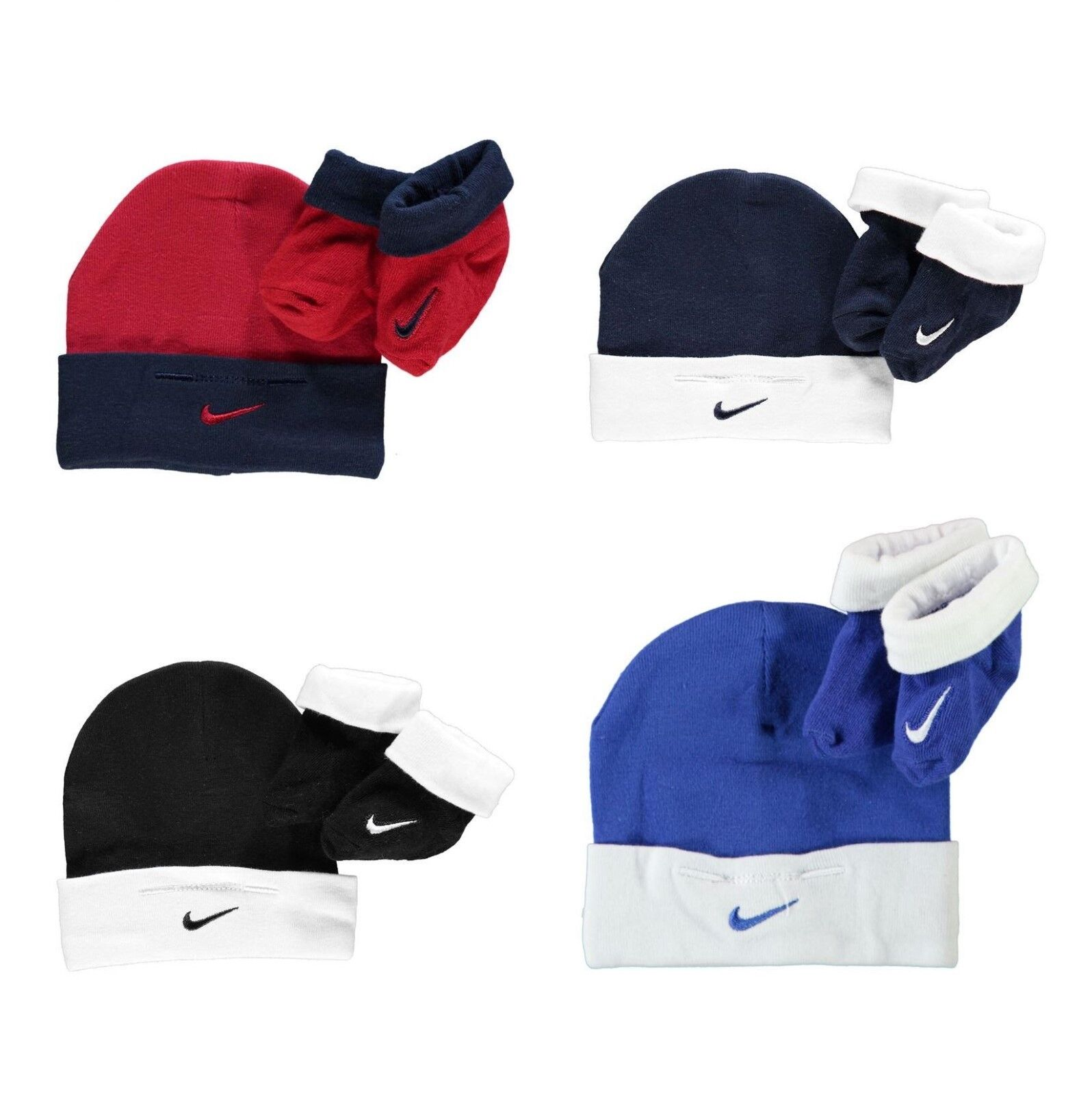 Nike Baby Socken Mütze Set 2 Teile Neugeborene Geschenk 0 - 6 Monate