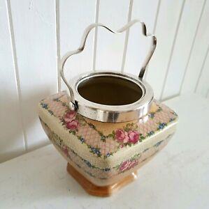 Antique 100 yo Hanley England Ceramic Pot, Bonus Plant