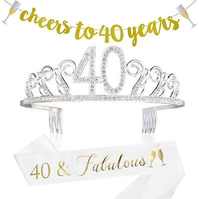 Decorations For 40th Birthday (40th Birthday Decorations Party Supplies - 40th Birthday Gifts for)