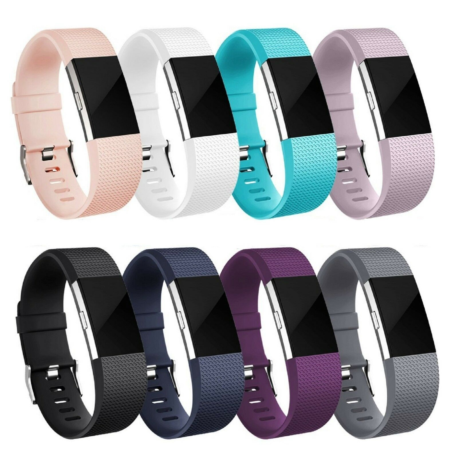 Купить Fitbit Hot Charge 2 Band Silicone Fitness Wristband Heart Rate Watch Band - For Fitbit Charge 2 /  2 HR Replacement Silicone Bracelet Watch Band