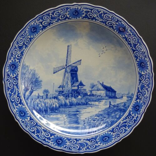 BEAUTIFUL PORCELEYNE FLES ROYAL DELFT WINDMILL PLATE MADE IN 1953