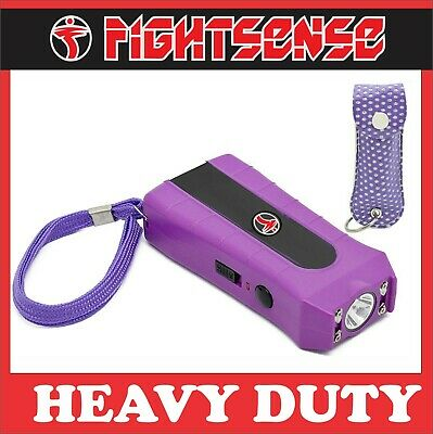 Mini Stun Gun And Pepper Spray For Self Defense -extremely Powerful Prpl