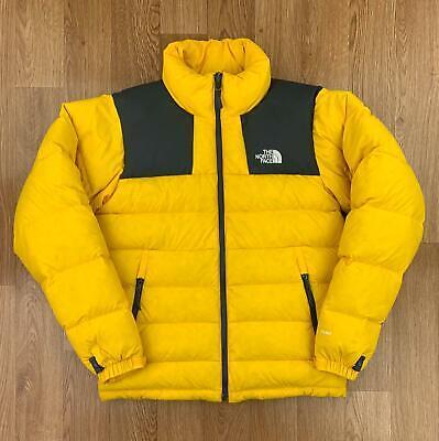 THE NORTH FACE Mens 700 NUPTSE Puffer Jacket   Down Coat Massif   Small S Yellow