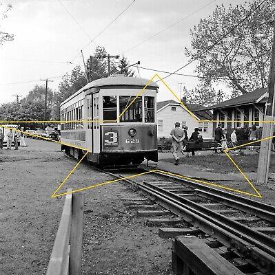 TARS Car 629 at Open House Sprague Branford Trolley Museum Original B&W Negative