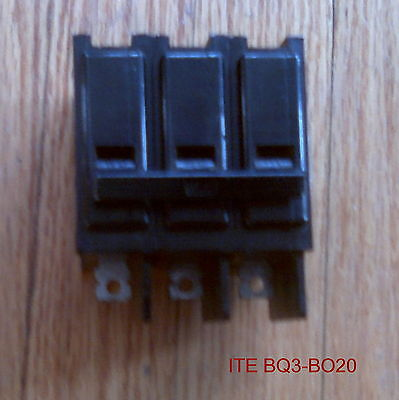 Ite Circuit Breaker Type Eqb 20 Amp 3 Pole 120240 Volt Bq3-bo20