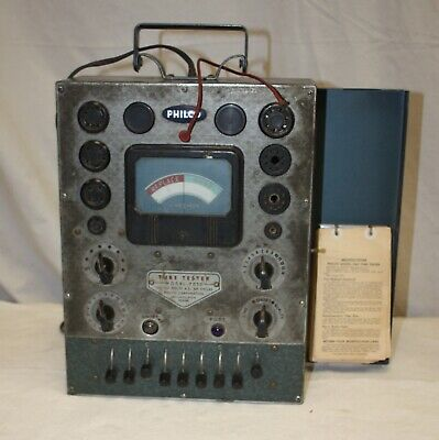 Vintage Philco 7050 Tube Tester With Datasheets And Schematic