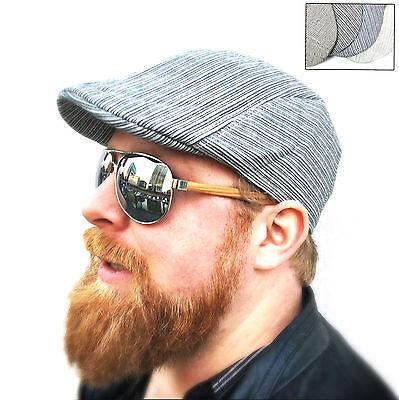 Schiebermütze gestreift Gatsby Cap Newsboy Swing 4Piece Schirmmütze Flatcap