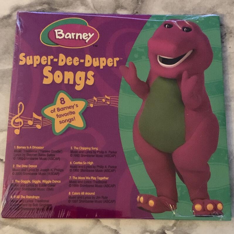 Barney Super Dee Duper Songs CD New Sealed
