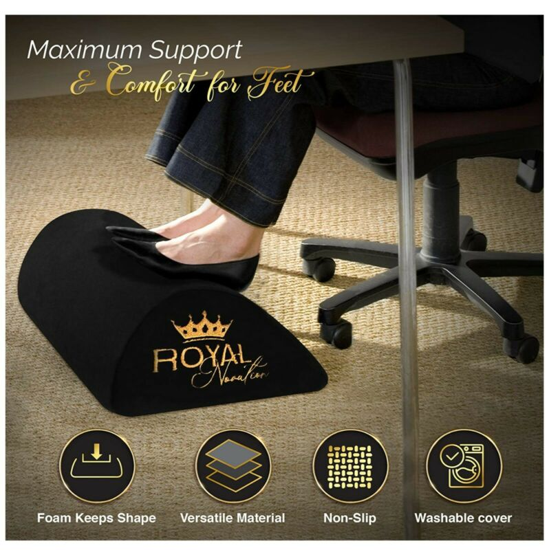 Footrest for Desk - Office Foot Rest - Ergonomic Foot Rest Under Desk -Non-Slip