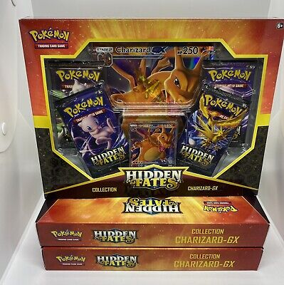 Pokemon Hidden Fates Charizard GX Collection Box Factory Sealed! (LOT OF 3)