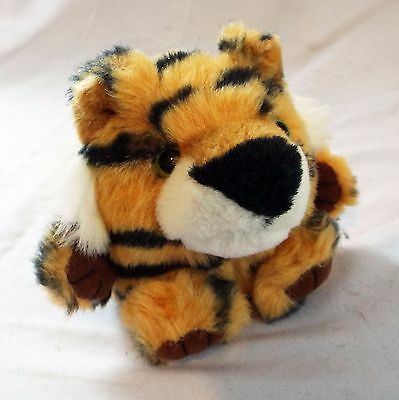 "Swibco Puffkins Tipper the Tiger Plush Bean Bag 1994 Retired Style # 6615 4"" EUC"