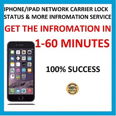 CARRIER NETWORK CHECK SIM LOCK STATUS INFORMATION FOR ANY IPHONE IPAD MODEL