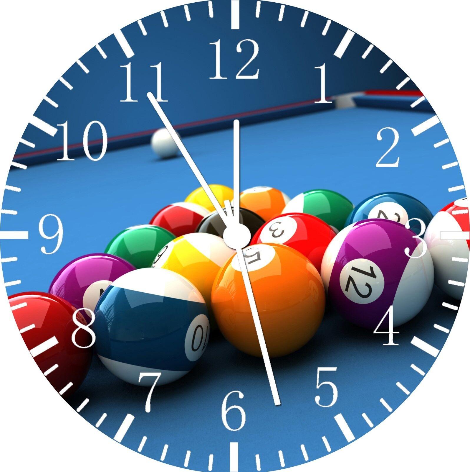 Billards Cue Pool Frameless Borderless Wall Clock Nice For Gifts or Decor E308