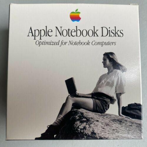 """Very Rare Apple Notebook Computer Optimized 3.5"""" Floppy Disks 2MB High Density"""