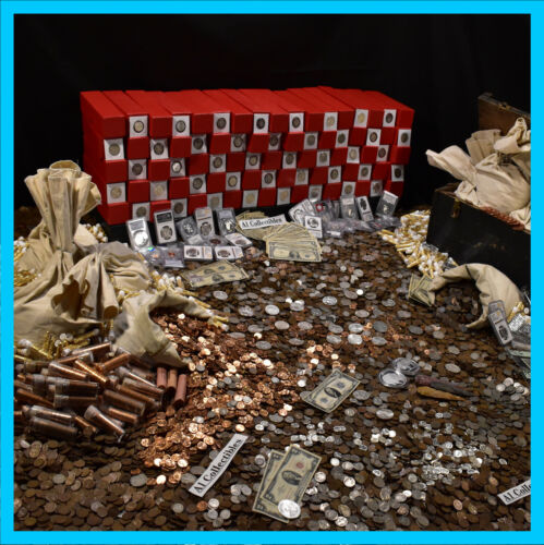 HUGE ESTATE LOT FIND OLD US COINS GOLD SILVER BULLION RARE US CURRENCY MIXED LOT