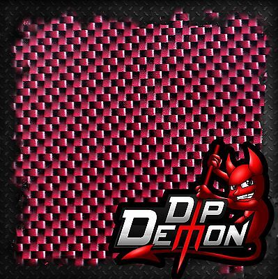 Bad Boy Red Carbon Fiber Film Hydrographic Water Transfer Hydro Dipping Dip Rose